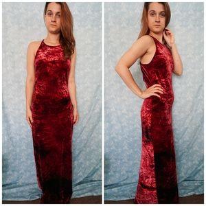 VTG Jessica McClintock Velvet Maxi Dress